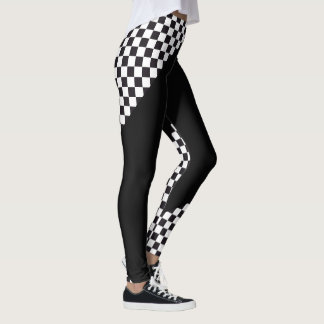 Car Racing / Chess Pattern + your backgr. & ideas Leggings
