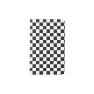 Car Racing / Chess Pattern + your backgr. & ideas Pocket Moleskine Notebook Cover With Notebook