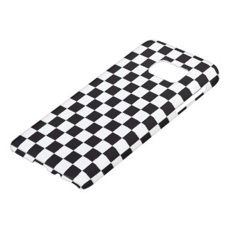 Car Racing / Chess Pattern + your backgr. & ideas Samsung Galaxy S7 Case