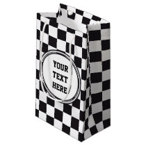 Car Racing / Chess Pattern   your backgr. & ideas Small Gift Bag