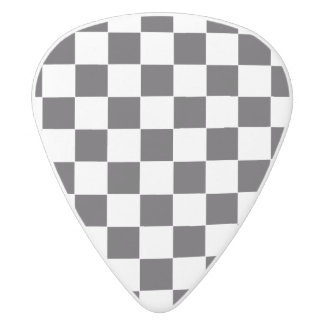 Car Racing / Chess Pattern + your backgr. & ideas White Delrin Guitar Pick