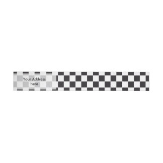 Car Racing / Chess Pattern + your backgr. & ideas Wrap Around Address Label