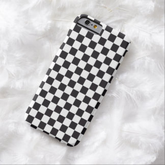 Car Racing / Chess Pattern + your backgr. & text iPhone 6 Case