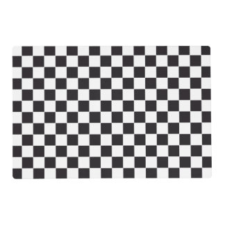 Car Racing / Chess Pattern + your backgr. & text Placemat