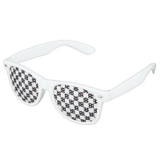 Car Racing / Chess Pattern + your backgr. & text Retro Sunglasses