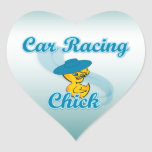 Car Racing Chick #3 Stickers