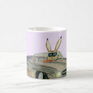 Car Racing Rabbit Coffee Mug