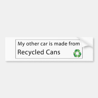 Car - Recycled Cans Bumper Sticker
