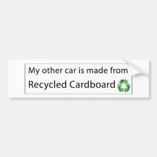 Car - Recycled Cardboard Car Bumper Sticker