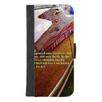 Car reflection with text iPhone 8/7 wallet case