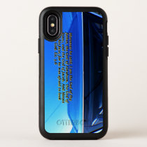 Car reflection with text iPhone X Symmetry case