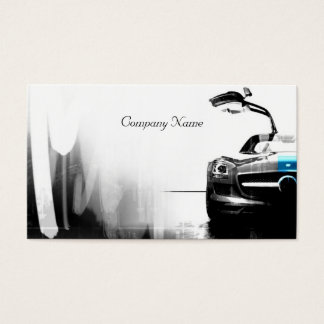 Car Related White And Black Colored Business Card
