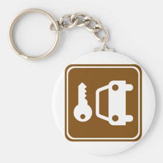 Car Rental Highway Sign Keychain