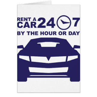 Car rentals by the hour or day 24-7 card