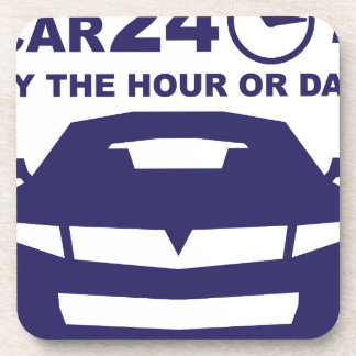 Car rentals by the hour or day 24-7 drink coaster