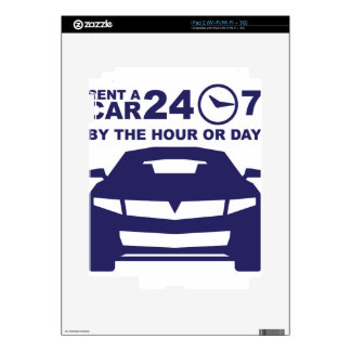 Car rentals by the hour or day 24-7 iPad 2 decal