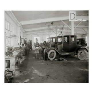 Car Repair Garage, early 1900s Poster