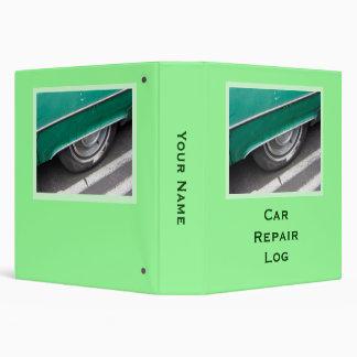 Car Repair Log Binder
