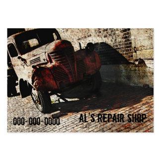 car repair shop business card template