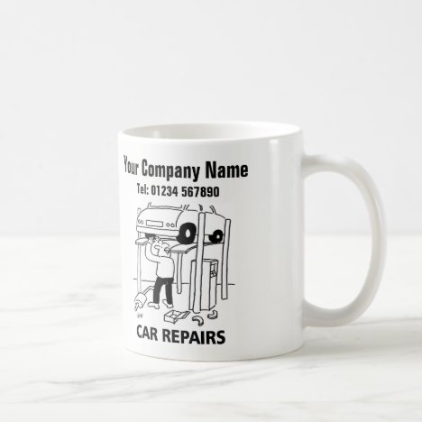 Car Repairs Cartoon Mug