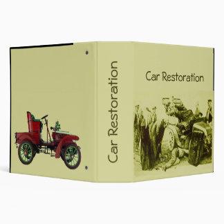 CAR RESTORATION 3 RING BINDER
