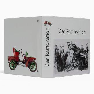 CAR RESTORATION BINDER
