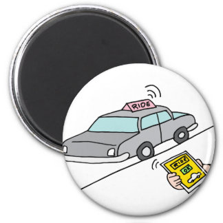 Car ride app service 2 inch round magnet