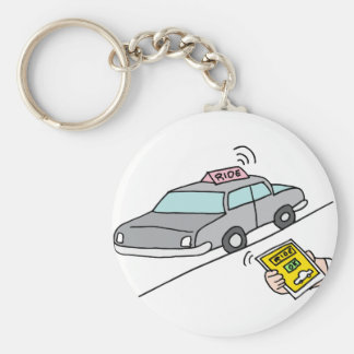 Car ride app service keychain