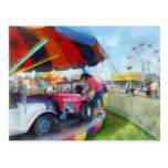 Car Ride at the Fair Postcard