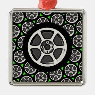 Car Rim & Tire Ornament