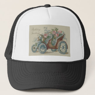 Car Rose Forget Me Not Floral Flowers Trucker Hat