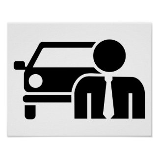 Car salesman poster