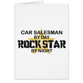 Car Salesman Rock Star Card
