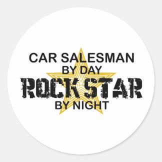 Car Salesman Rock Star Classic Round Sticker