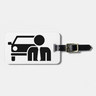 Car salesman tag for luggage
