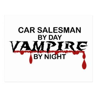 Car Salesman Vampire by Night Postcard