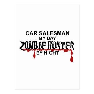 Car Salesman Zombie Hunter Postcard