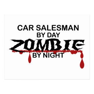 Car Salesman Zombie Postcard