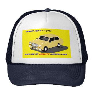 car salesman's hat