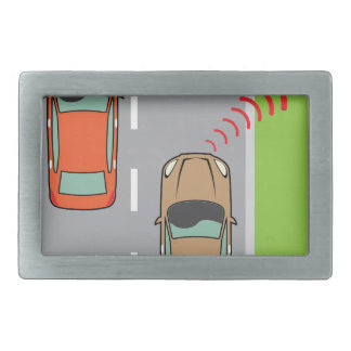 Car scans speed limit sign belt buckle