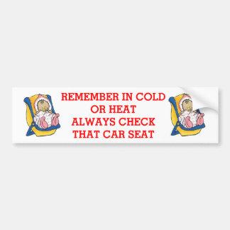 CAR SEAT BUMPER STICKER