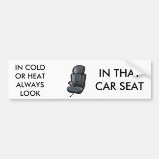 CAR SEAT BUMPER STICKERS
