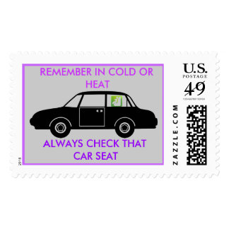 CAR SEAT POSTAGE STAMPS