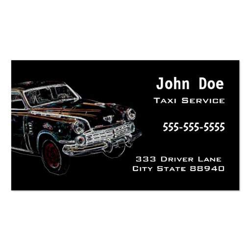 Car Service Business Card Template : Zazzle