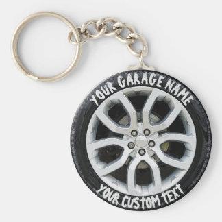 Car Service Repair Garage Owner Tire Wheel Custom Keychain