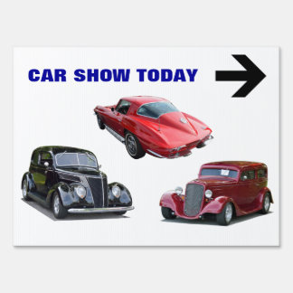 Car Show Today Sign
