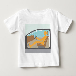 Car side view Person no airbag Baby T-Shirt