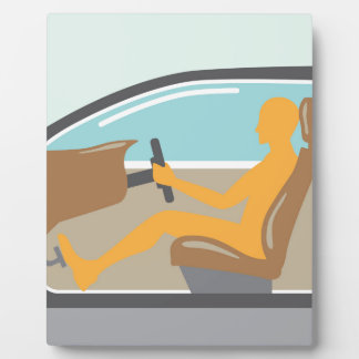 Car side view Person no airbag Plaque