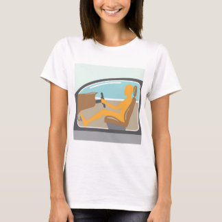 Car side view Person no airbag T-Shirt