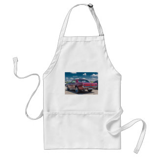 Car Sports Mustang Red Muscle Motor Gears Metal Adult Apron